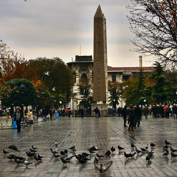 Hippodrome which is located in Sultanahmet Area, not far from Blue Mosque and Hagia Sophia