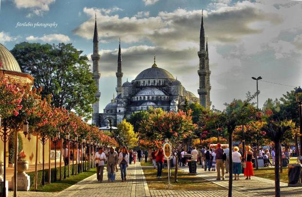 Blue Mosque or Sultan Ahmet Mosque. One of tourist attraction in Istanbul