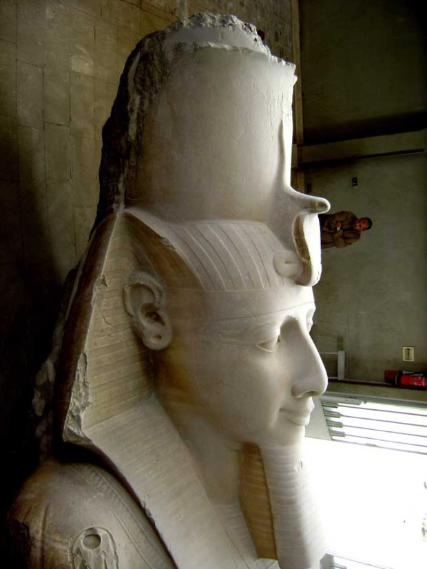 Statue of King Ramses II at Open Air Museum in Memphis