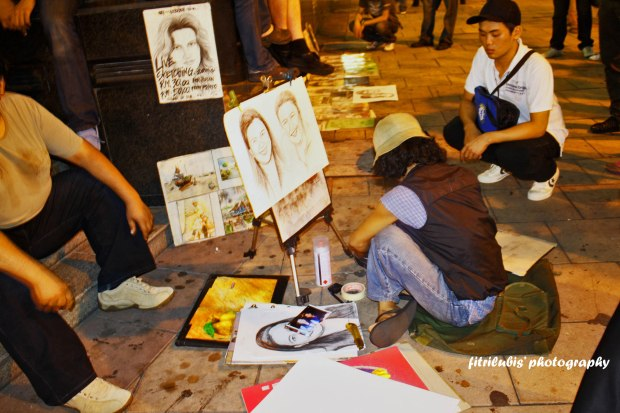 Street Painter at Bukit Bintang Street