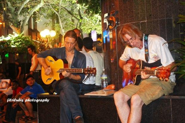 Street Musicians at Bukit Bintang Street in KL