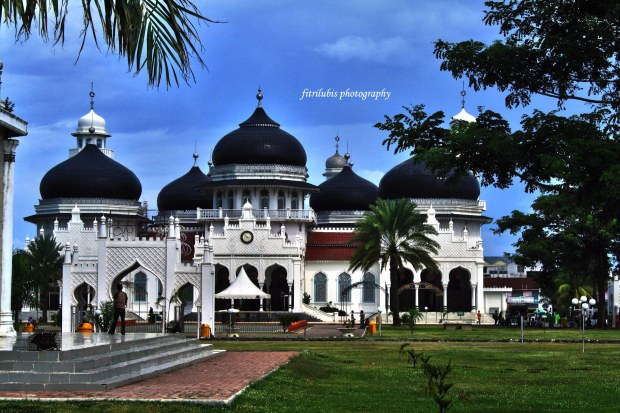 Baiturrahman Grand Mosque. The Landmark of Banda Aceh