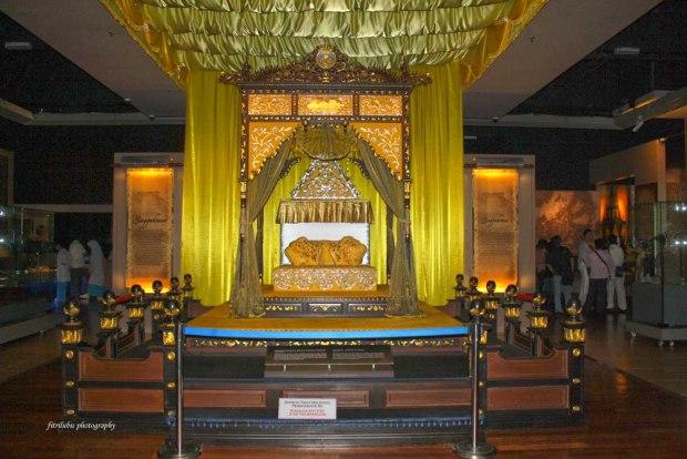 The throne of Perak Royal in Malaysia.  Location: Muzium Negara Kuala Lumpur
