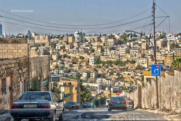 Amman surrounded by the hills.