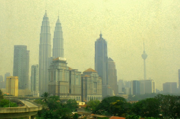 Kuala Lumpur City with Petronas Tower as background