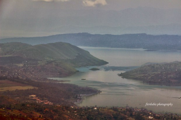 Bukavu and Lake Kivu Seen from Above