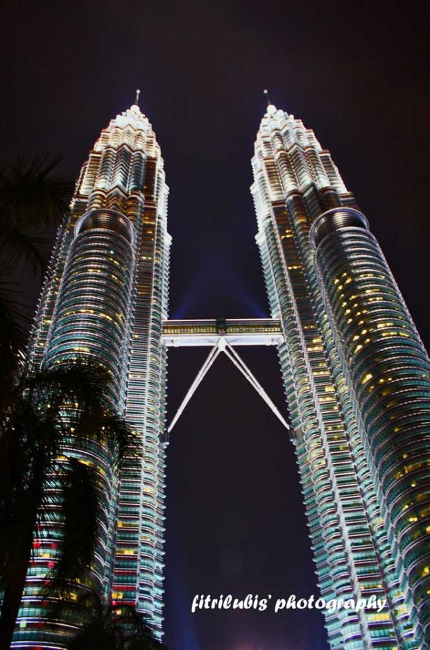 Petronas Towers or also known as Twin Towers. The highest building in the world from 1998 to 2004