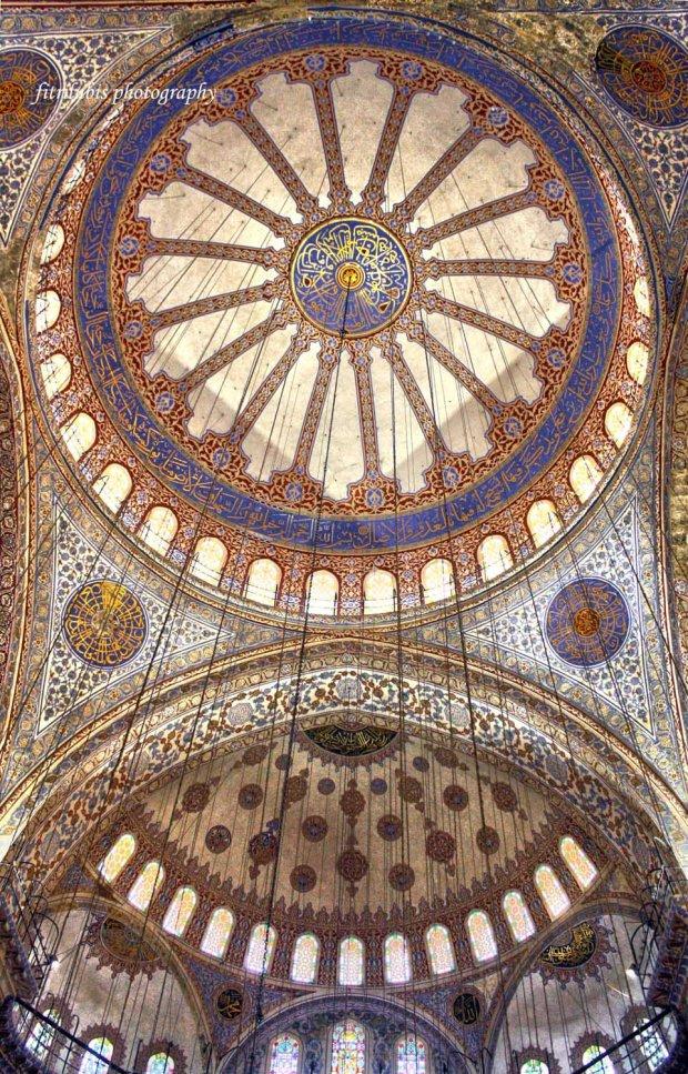 Interior of Sultanahmet Mosque