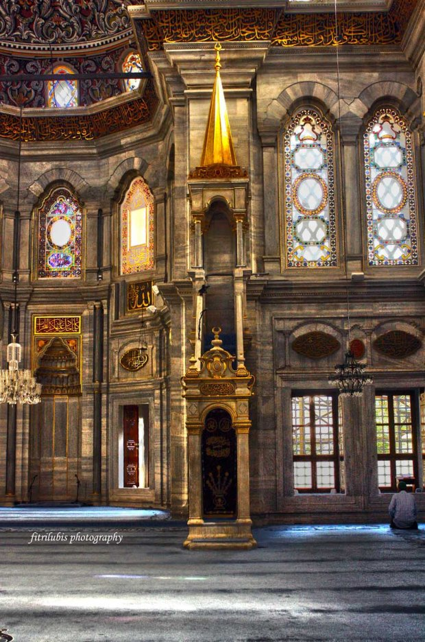Interior of Nurosmaniye Mosque