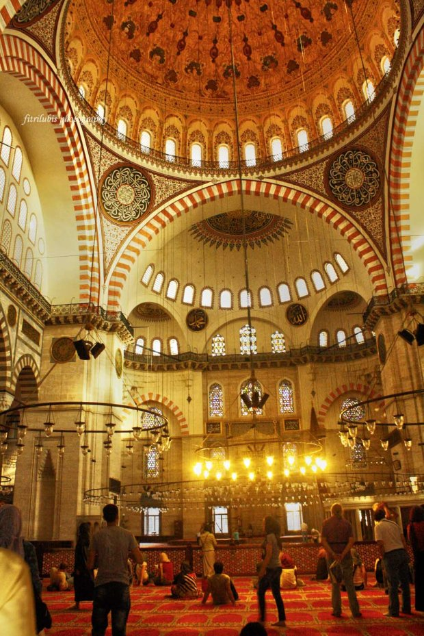 Interior of Suleymaniye Mosque