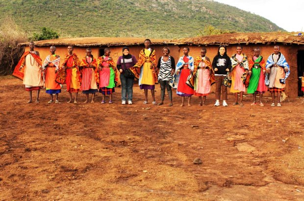 I am with the Maasai Women, ready to dance