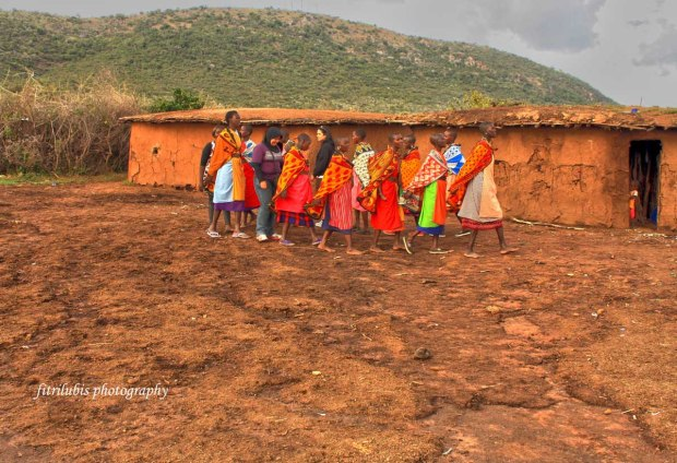 I am following traditional dance with Maasai Women