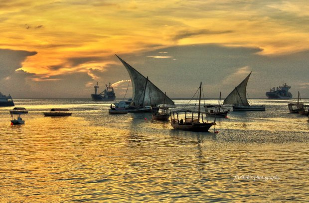 Zanzibar when the sunset comes