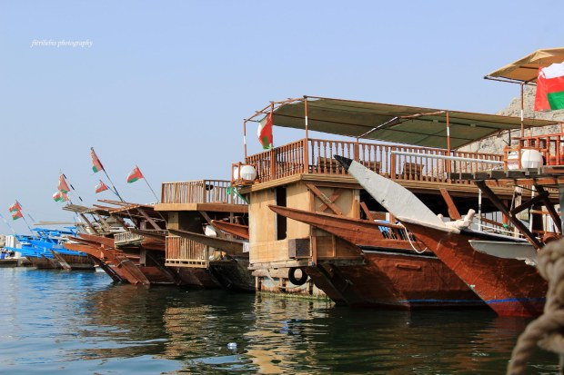 The wooden boats in Dolphin Cruise
