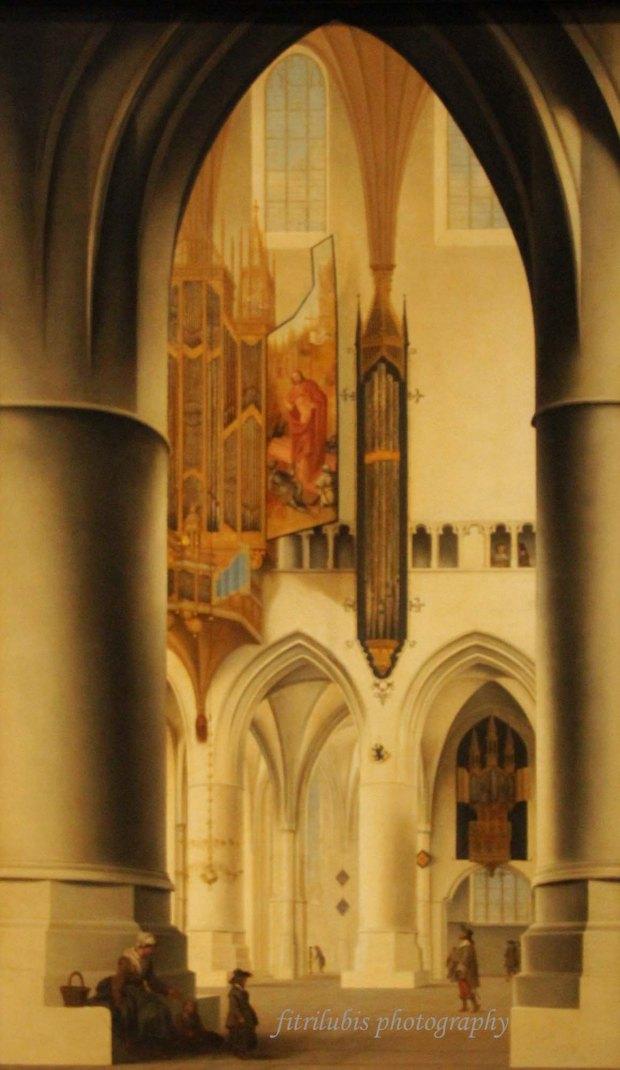 Interior of Church St Bavo in Haarlem by Pieter Jansz Saenredam