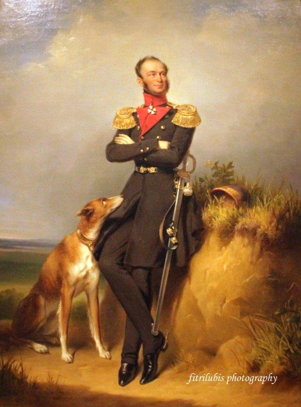 Portrait of William II, King of Netherlands, by Jan Adam Kruseman