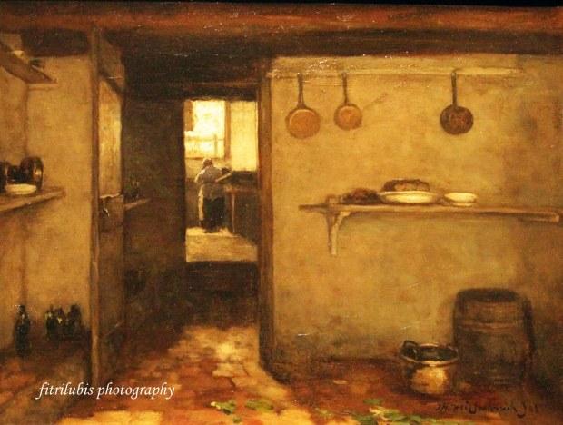 Cellar of the artist home in Den Haag, by Johan Hendrik Weissenbruch