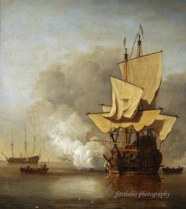The Canon Shot by Willem Van de Valde