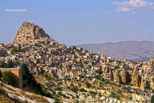 The Beauty of Cappadocia, seen from one of top of the hills.