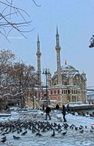 Istanbul in the snowy day