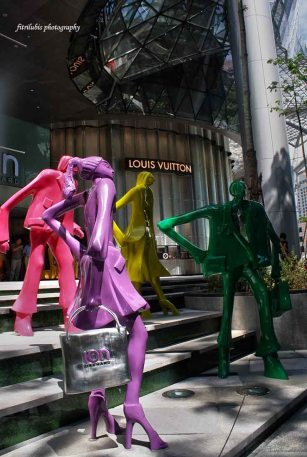 Mannequins in front of Ion Building