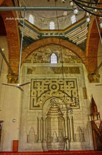 Interior of Isa Bey Mosque in Selcuk