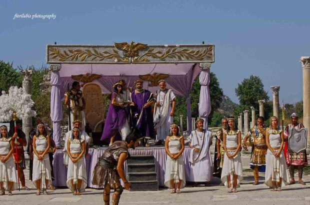 Gladiator Performance in Ephesus