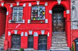 Colorful houses in Fener-Balat neighborhood