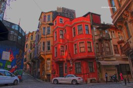 Colorful houses in Fener-Balat neighborhood