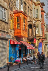 one of cute coffee house within Balat neighborhood