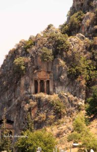 Ancient tomb at Fethiye Downtown